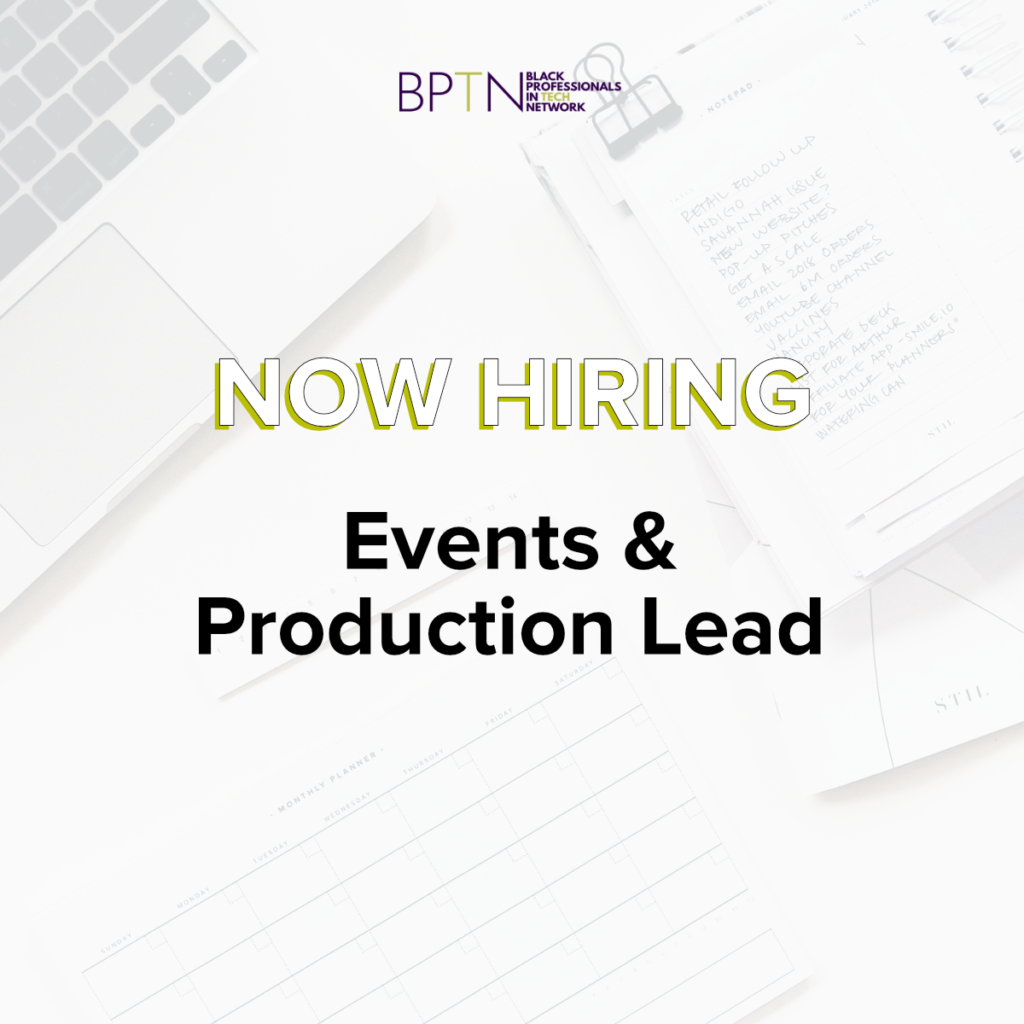 Events and Production Lead